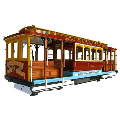 Maquette en bois : Tramway de San Francisco : California Street - Artesania-20331