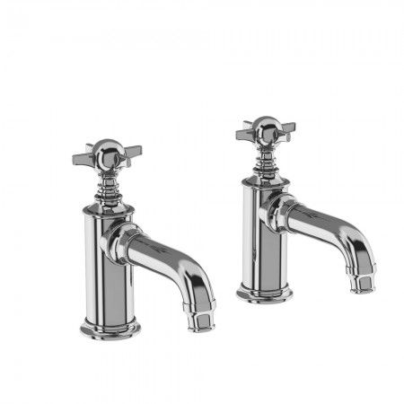 Arcade ARC17 basin pillar taps - Chrome. These taps are traditionally styled with a Chrome plated finish.