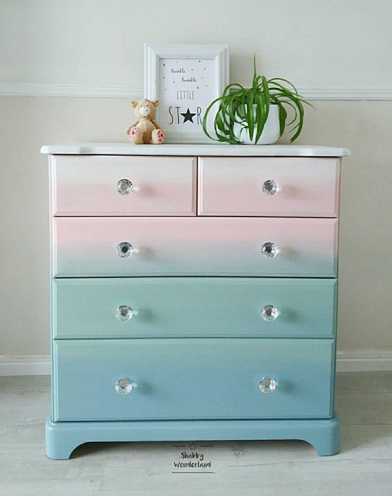 This Beautiful Chest Of Drawers Is Perfect To Nursery S Room Or Even Bedroom Especially Unicorn It Has Been Hand Painted With Fusion