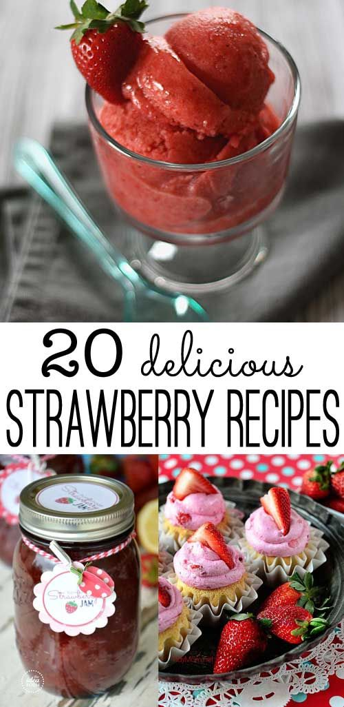 a great round up of strawberry recipes