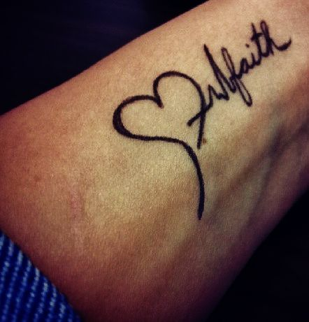 Faith EKG Tattoo. I'd like the ekg to be a little longer though