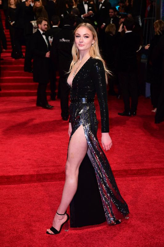 (Ian West/PA Wire) Baftas 2017 Red Carpet: London England Feb 12- Sophie Turner