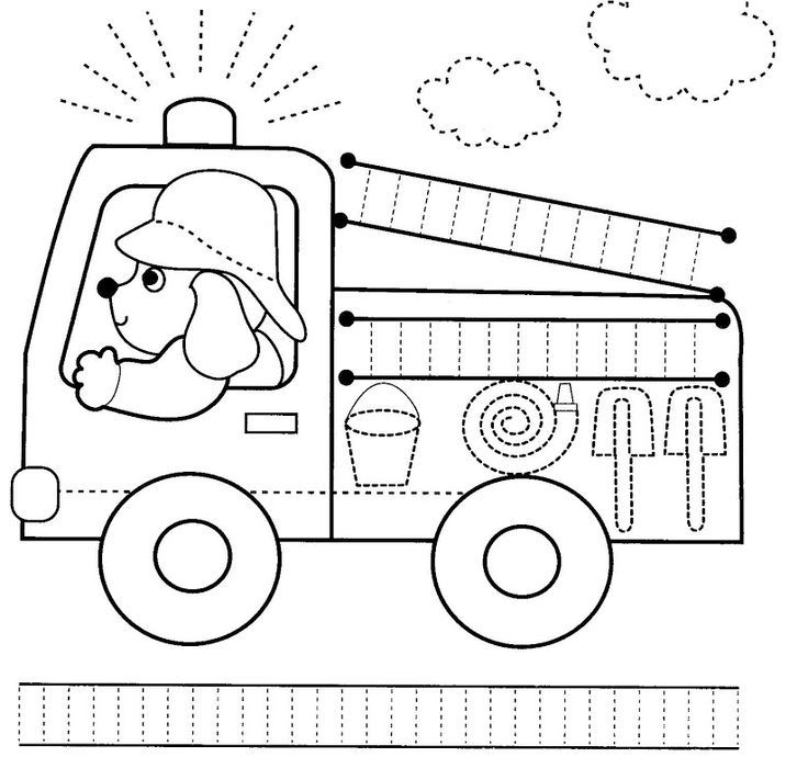 fire truck trace worksheet