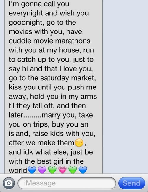 cute text for her
