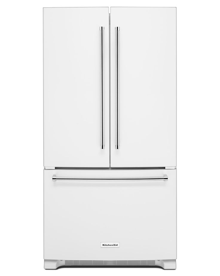 This 20 cu. ft. <strong>KitchenAid® French door refrigerator KRFC300EWH</strong> has a counter-depth design that creates a premium, built-in look without the price and fits virtually flush with your current counters and kitchen fixtures to provide extra space. But the beauty of this French door refrigerator goes beyond the exterior. The ExtendFresh™ temperature management system uses sensors in the refrigerator and freezer to help ensure all your ingredients remain at the app...