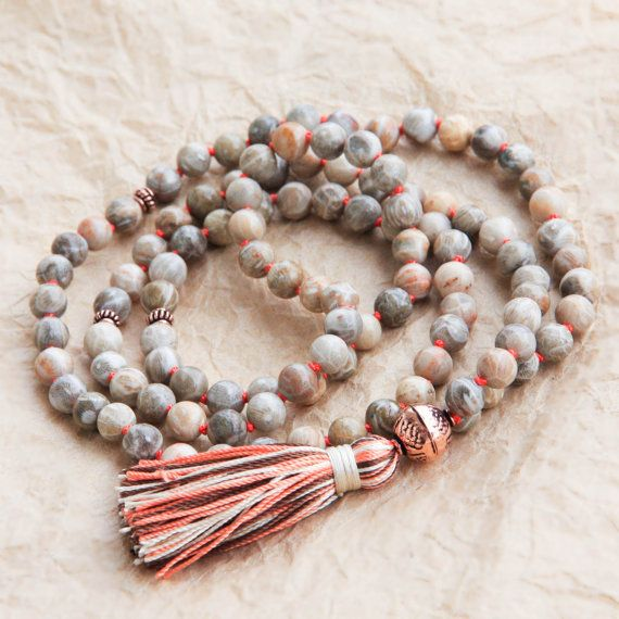 Tibetan Mala Beads Meditation Mala Japa Beads by MishkaSamuel