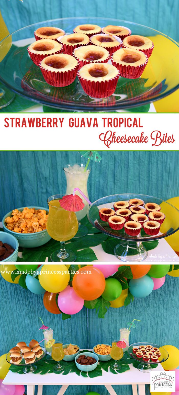 strawberry guava tropical cheesecake bites pin it
