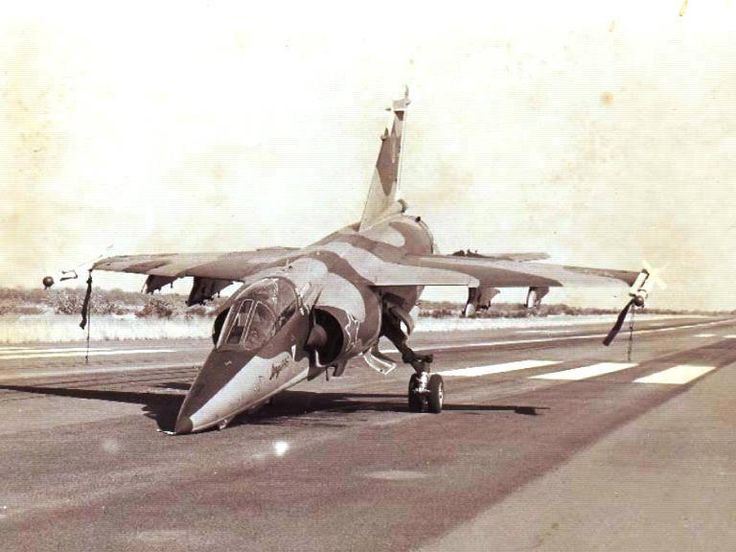 7 June 1980 Operation Sceptic: Capt IC Du Plessis landed his badly damaged Mirage F1AZ at Ruacana. The aircraft was damaged by scrapnel from an SAM Missile fired at the aircraft during the bombing of a target. He barely made it to Ruacana with the assistance of Budgie Burgers who was flying a telstar Imp and guided him in to Ruacana. For saving the irreplaceable aircraft Capt Du Plessis was awarded an HC medal