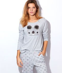 pyjama 2 pi ces koala gris etam pinterest lingerie. Black Bedroom Furniture Sets. Home Design Ideas