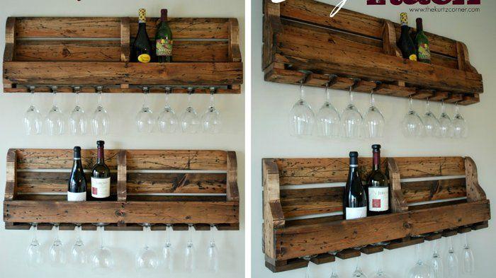 30 meubles faire avec des palettes palette verre vin pinterest range bouteille. Black Bedroom Furniture Sets. Home Design Ideas