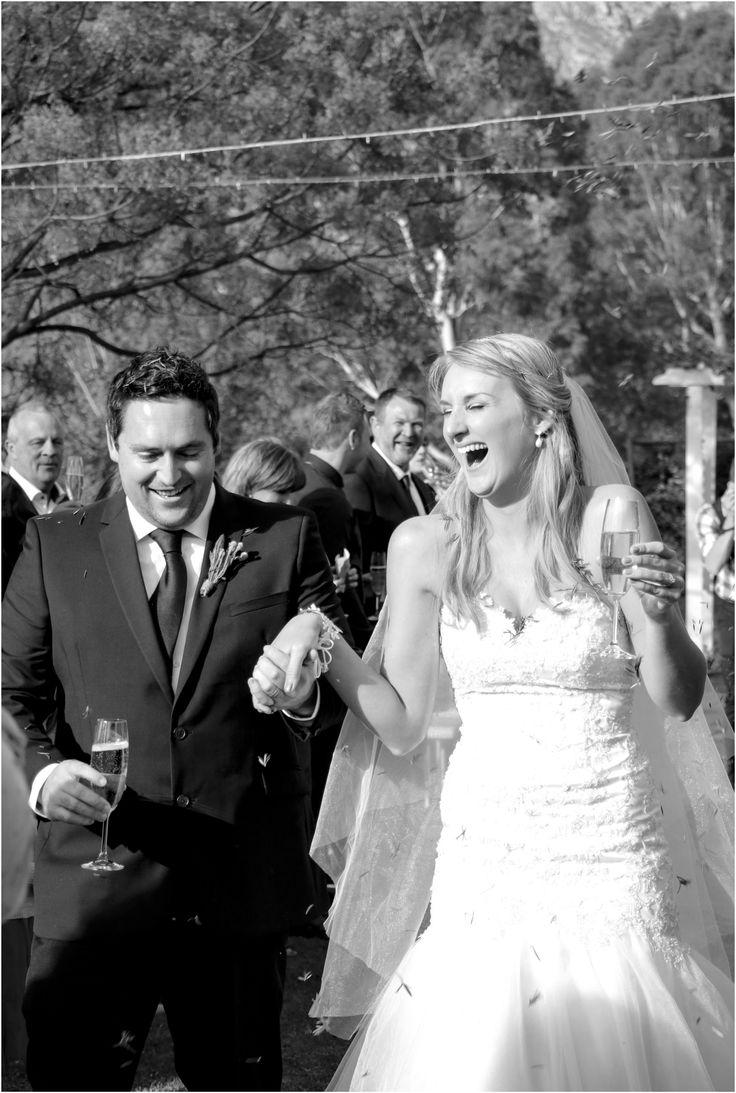 Olive Rock Wedding Confetti Moment