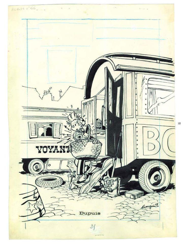 Couverture pour Spirou, La foire aux gangsters, par André Franquin, Dupuis, 1958.