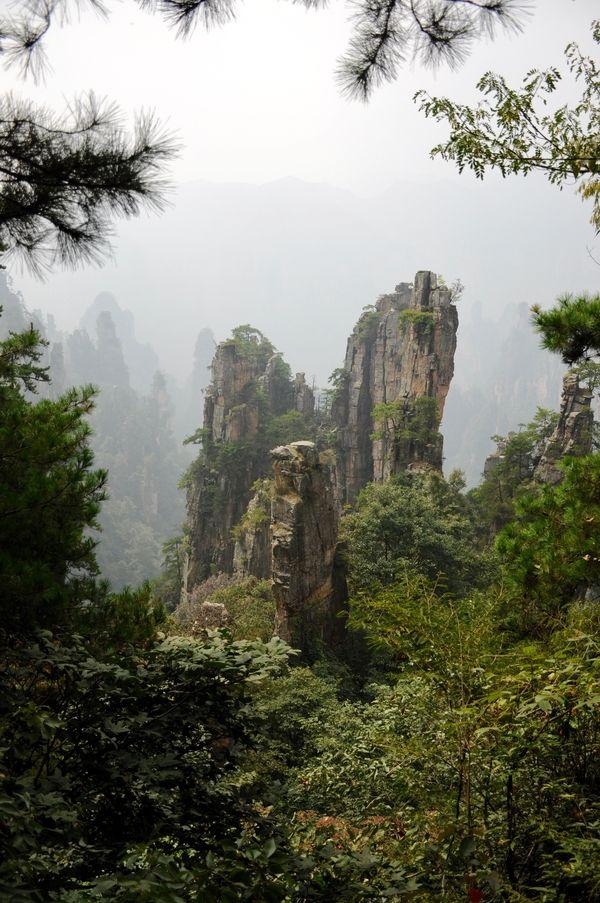 Немного моих фотографий природного парка Чжанцзяцзе (Zhangjiajie) Китай Китай, отпуск, никон, длиннопост