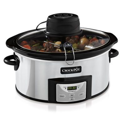 Wow, it automatically stirs! Crock-Pot® Digital Slow Cooker with iStir™ Stirring System at Crock-Pot.com.