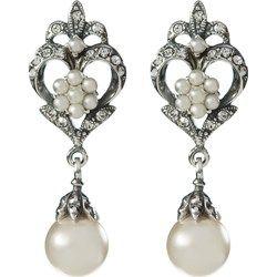 Orecchini in argento 925 con perle in conchiglia ed Elementi Swarovski® qvc-moda grigio Elegante