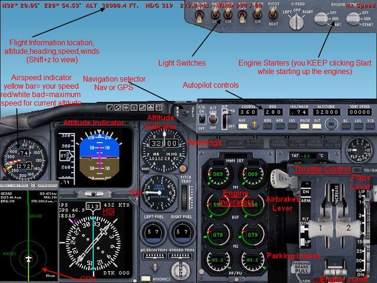 Resultado De Imagen Para B737 400 Cockpit Front Panel Pl