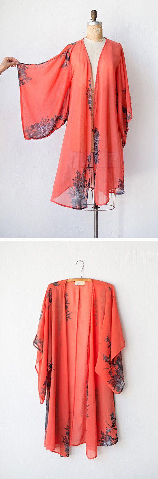 vintage 1970s kimono robe | Gypsy Sunrise Robe