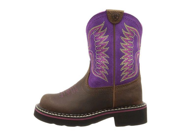 Ariat Kids Fatbaby Thunderbird (Toddler/Little Kid/Big Kid) Cowboy Boots Powder Brown/Amethyst