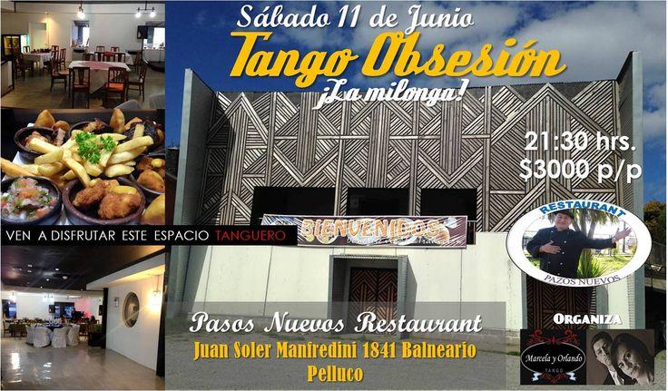 Afiche milonga Tango Obsesión Junio 2016.