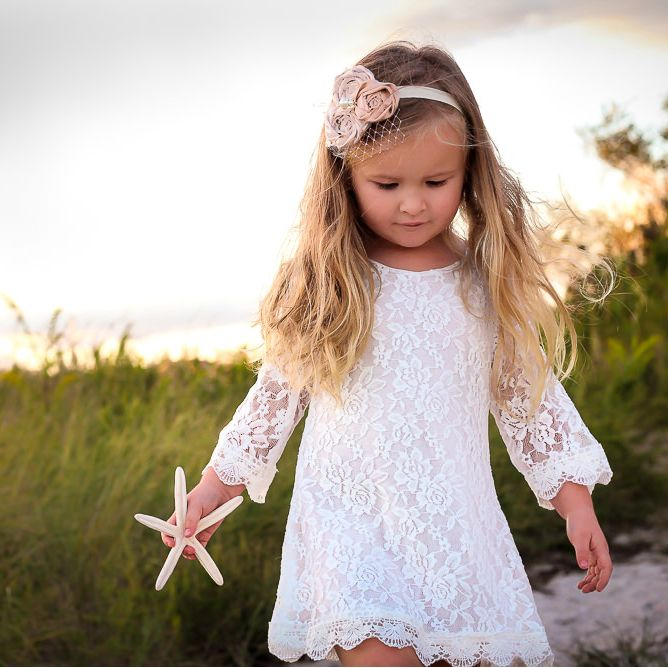 The Chloe Lace Flower Girl Dress - MyWedStyle.com