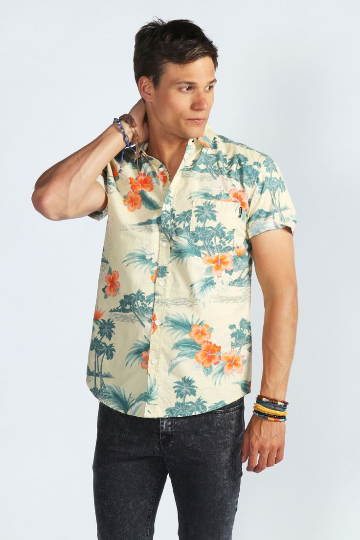 All over floral hawaiian shirt with images cool