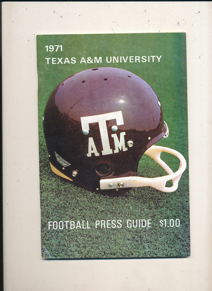 1971 Texas A&M Football Press Media Guide | eBay