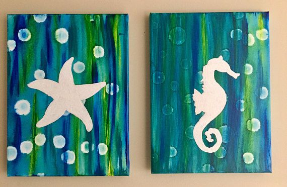 Starfish and Seahorse 2 piece set