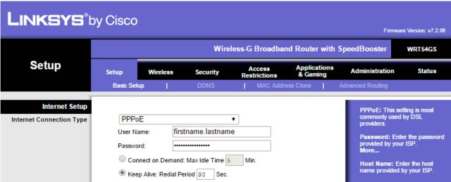 Using Point to Point Protocol and 'PPPoE' for DSL Connections