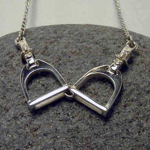 Double Silver Stirrup Pendant – Unio Goldsmith