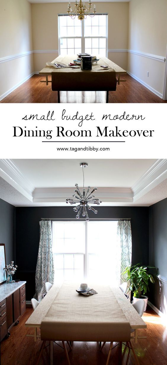 love this dark grey dining room! paint color Sherwin Williams Peppercorn
