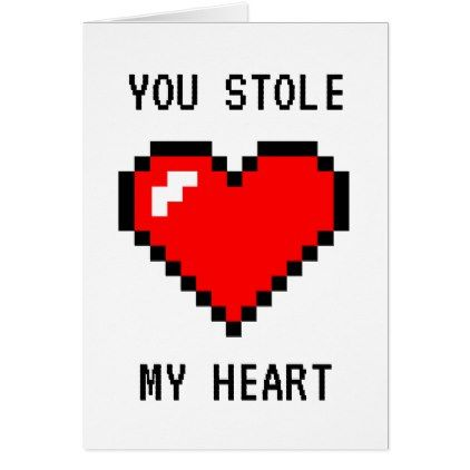 Stole My Heart - Funny Gamer Geeky Nerd Joke Card - funny nerd nerdy nerds geek geeks science cool special fun