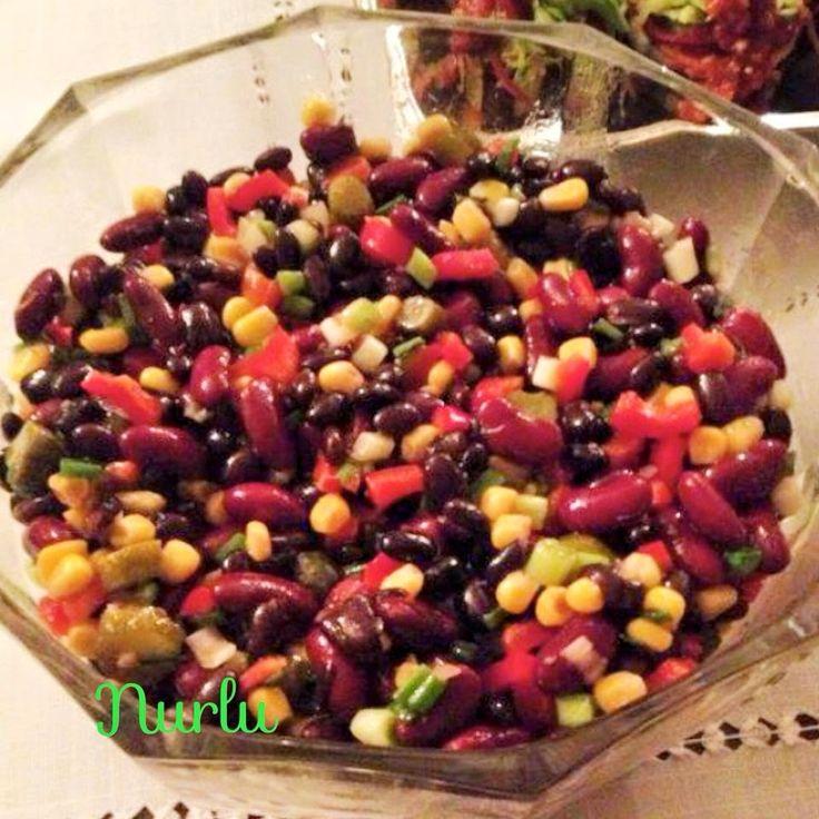 siyah fasulye salatası,siyah fasulye,salata tarifleri,farklı salata tarifleri,siyah fasulyenin faydaları,bakliyatlı lezzetler