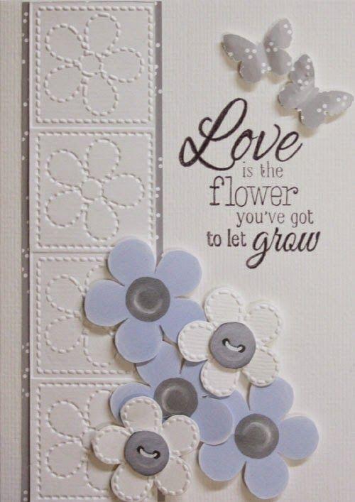 Marjoleine's blog: 2 kaarten met een embossing folder met bloemen