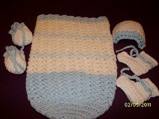 baby cocoon set, free pattern