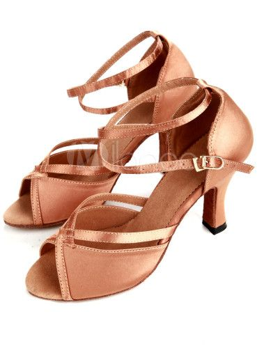 traditional bronze satin women's latin shoes $24.69