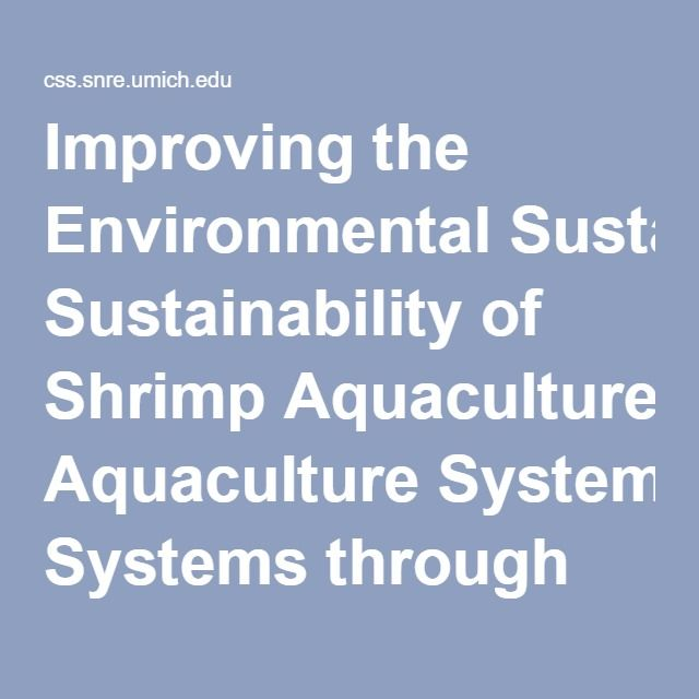 14 best recirculating aquaculture systems images on pinterest improving the environmental sustainability of shrimp aquaculture systems through microbial resource management center for sustainable fandeluxe Images