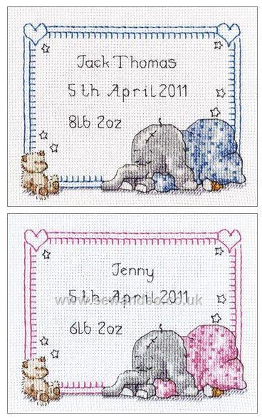 Buy Sleepy Baby Birth Sampler Cross Stitch Kit online at sewandso.co.uk