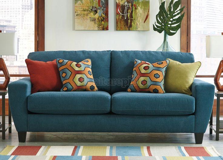 Sagen Teal Sofa