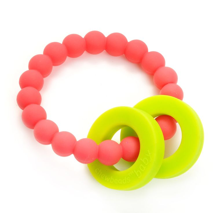 Baby Teether in Punchy Pink - A soft, flexible teether that's easy for baby to grip and totally safe for chewing. Great shower gift! #PNshop: Chic Baby, Chewbead Mulberry, Pretty Colors, Kids Boutiques, Mulberry Teether, Chewbead Punchi, Punchi Pink, Pink Mulberry, Chewbead Teeth