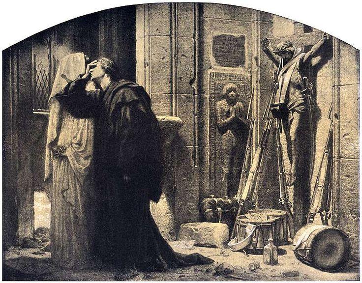 Artur Grottger - Wojna, X. Świętokradztwo, 1867