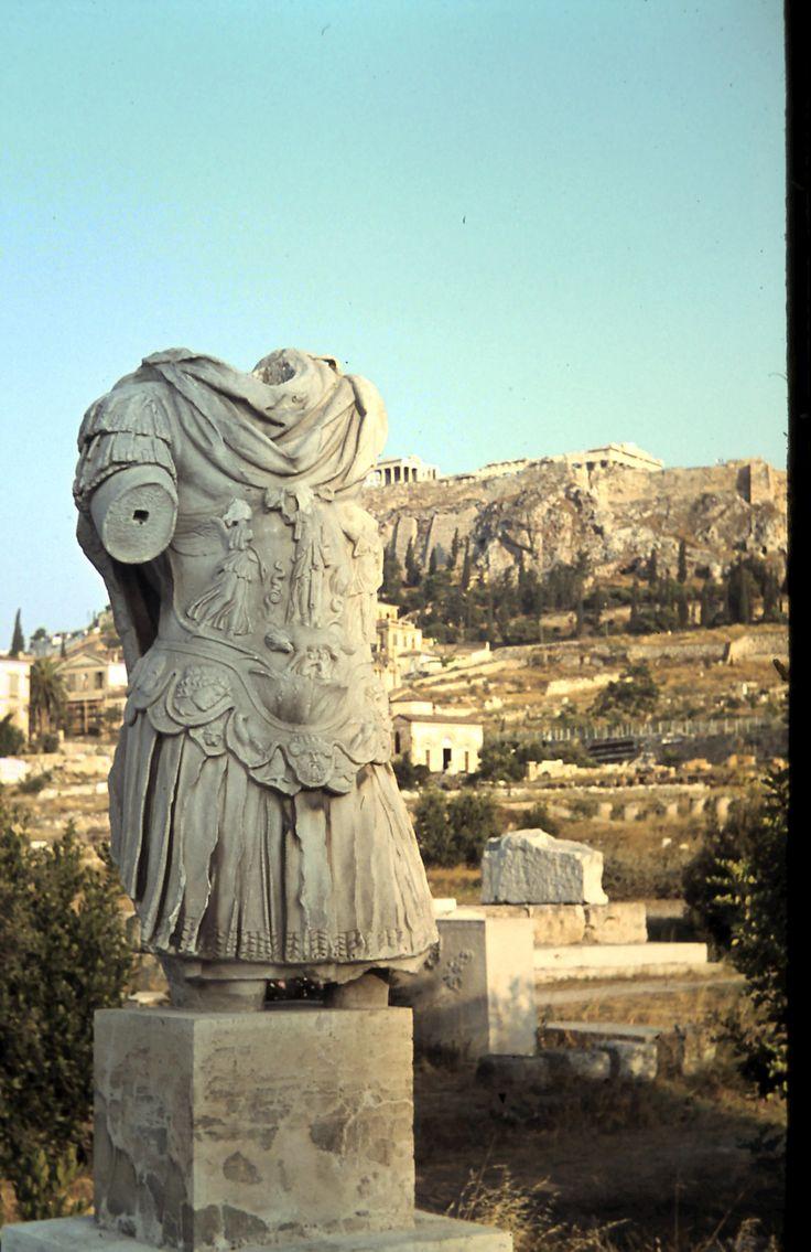 Statue of Roman Emperor Hadrian.