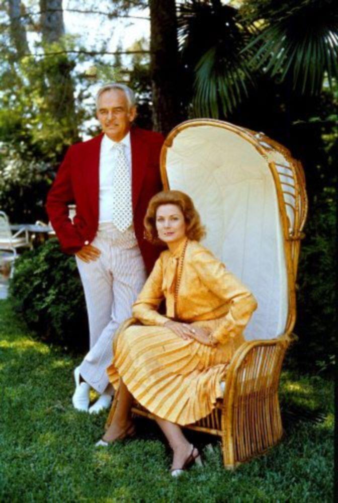 1973 Princess Grace and Prince Rainier . Photos by gianni bozzacchi