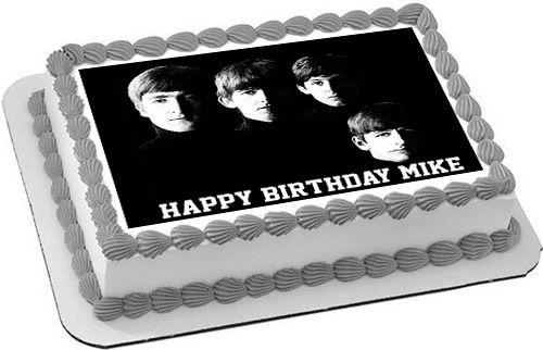 Beatles, Edible Birthday Cake Topper