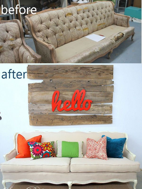Budget Friendly Upholstery updates by bloggers featured on Remodelaholicl.com  #upholstery #reupholster #budget