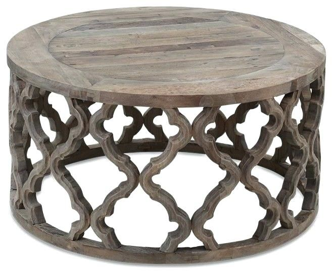 Moroccan Coffee Table Book Rustic Style Reclaimed Wood Round