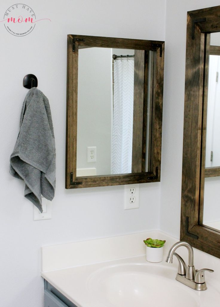 Best 25 bathroom vanity mirrors ideas on pinterest - Farmhouse style bathroom mirrors ...