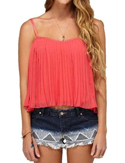 4fe60d67 Juniors Want To Stay Tank top-Paradise Pink | Story | Tops, Tank ...