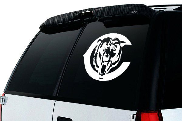 Chicago bears inspired car decal bears inspired vinyl car sticker nfl inspired window car