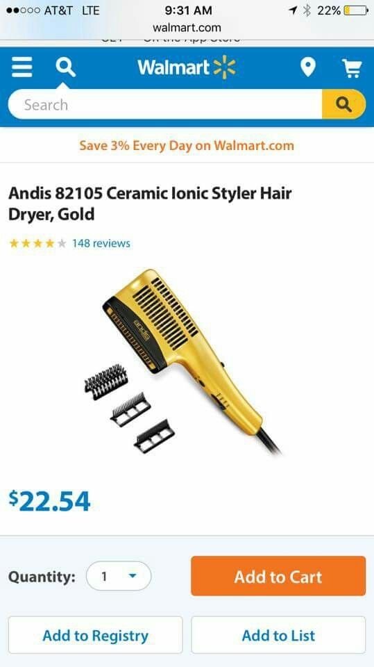 Blow dryer with comb attachments