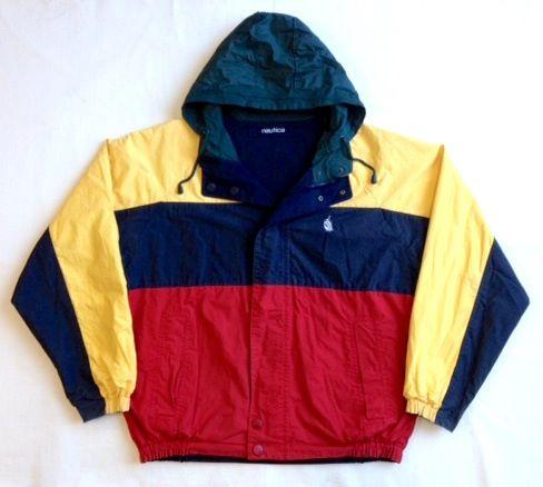 Image of 90's Nautica Colour Blocked Reversible Sailing Jacket Size M 7/10